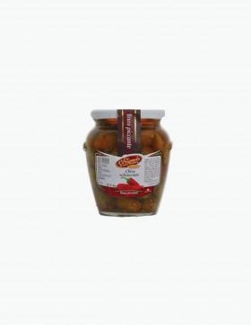 Olive Schiacciate Piccanti Sott'olio 580 gr - Le Delizie del Sud