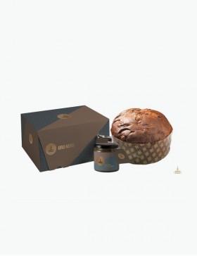 Oro Nero - Panettone con goccie di cioccolato e crema al caffè spalmabile 1 kg -...